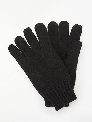 Buy John Lewis & Partners Fleece Lined Gloves, Black, M Online at johnlewis.com