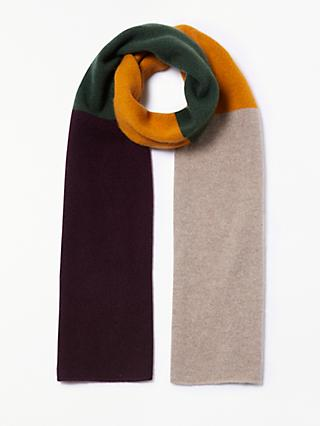 John Lewis & Partners Cashmere Colour Block Scarf