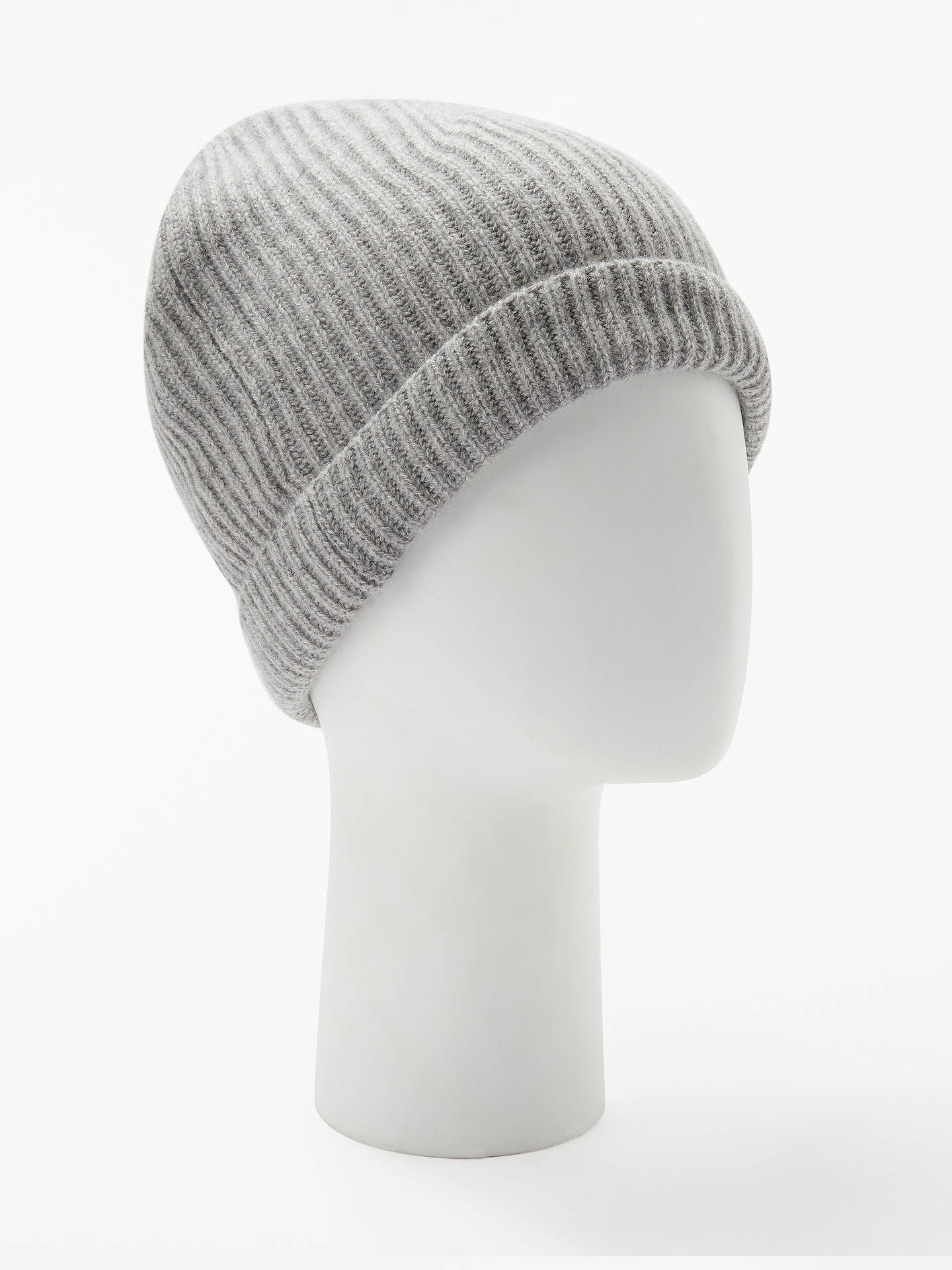 555141bfbf3 Buy John Lewis   Partners Italian Cashmere Ribbed Beanie Hat