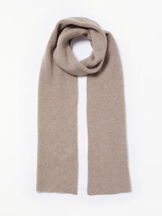 John Lewis   Partners Ribbed Cashmere Scarf 7ec26908340