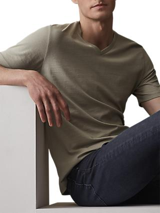 Reiss Dayton Cotton V-Neck T-Shirt