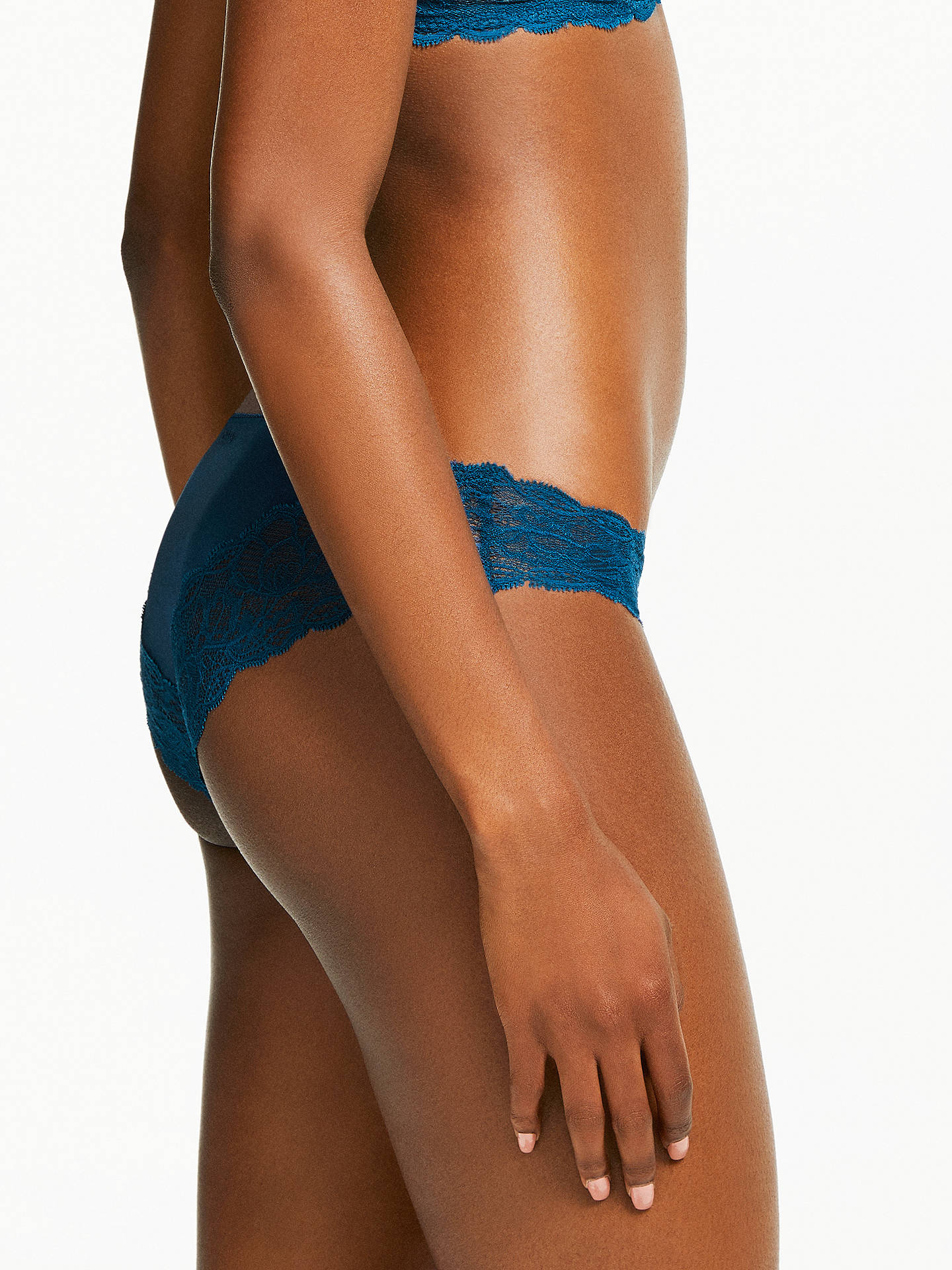 Buy Calvin Klein Underwear Seductive Comfort Lace Bikini Briefs, Lyria Blue, S Online at johnlewis.com