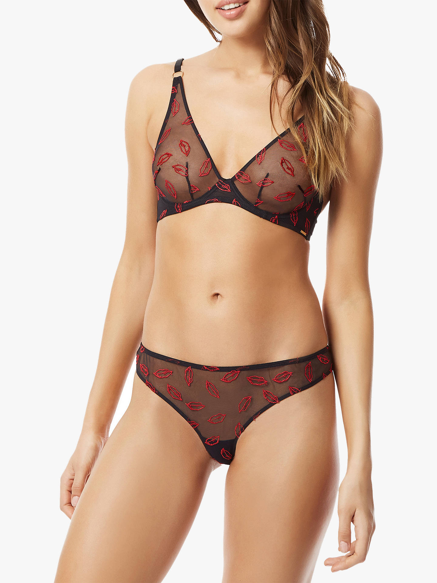 Buy Bluebella Willa Thong, Black/Red, 8 Online at johnlewis.com