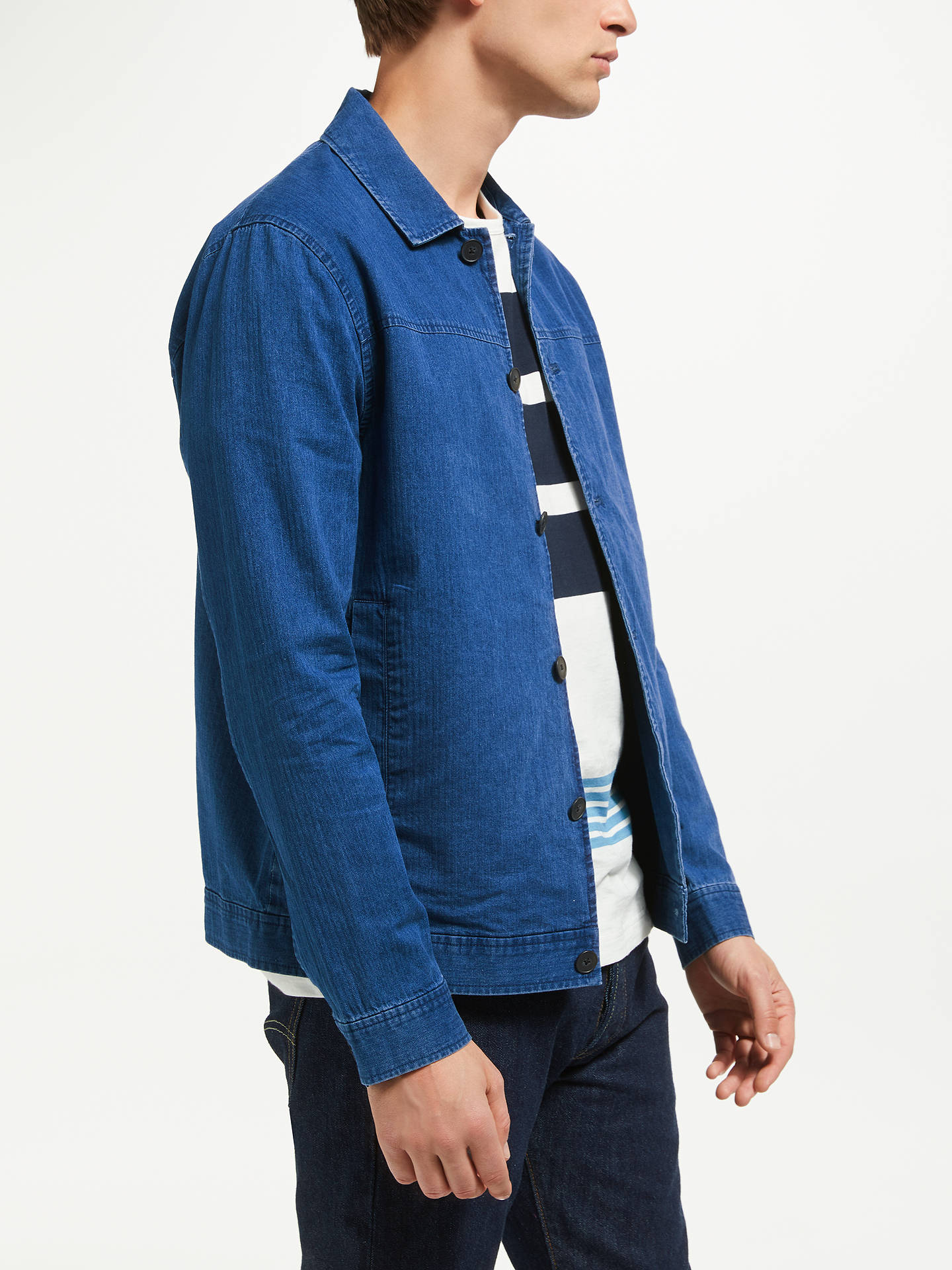 BuySamsoe & Samsoe Cusack Denim Jacket, Blue, M Online at johnlewis.com