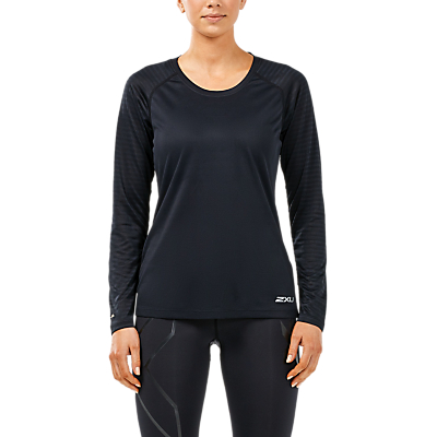 2XU Xvent Long Sleeve Top, Black