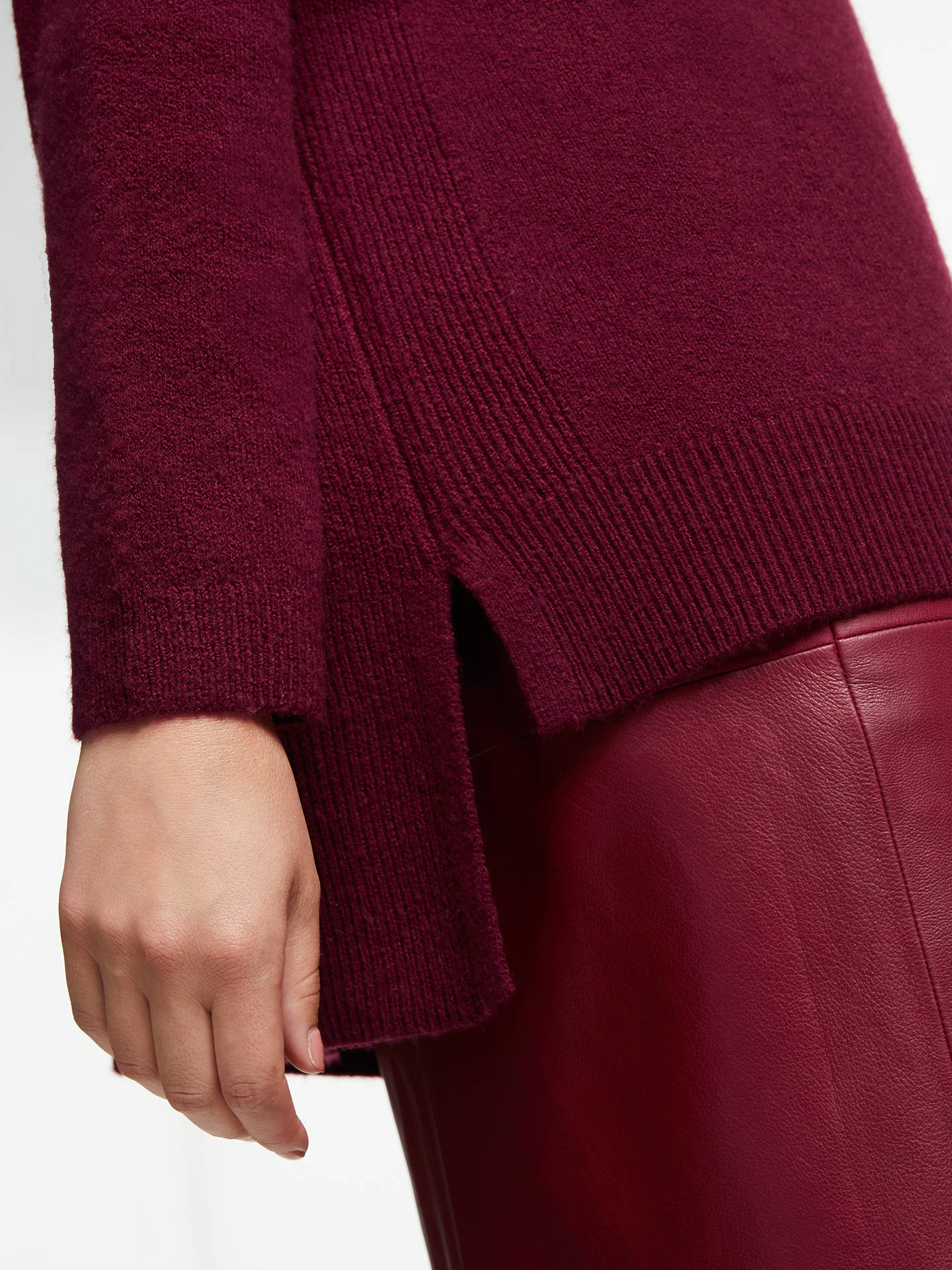 Buy John Lewis & Partners Cowl Neck Sweater, Burgundy, XS Online at johnlewis.com