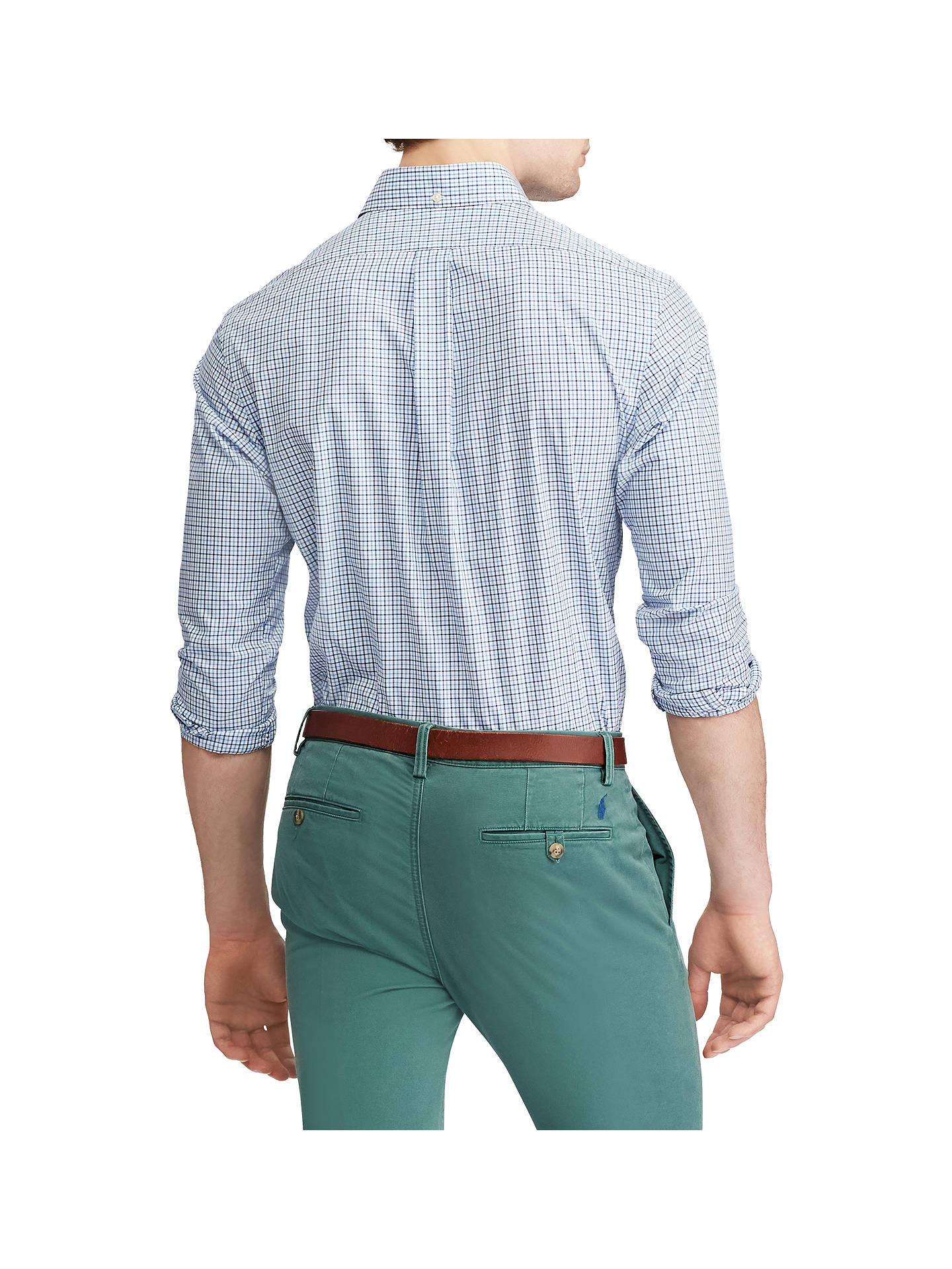 Buy Polo Ralph Lauren Long Sleeve Check Shirt, Blue, S Online at johnlewis.com