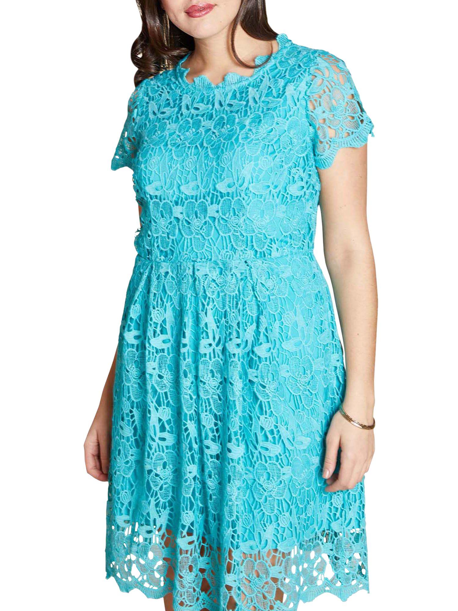 Yumi Curves Yumi Curves Guipure Lace Dress, Jade