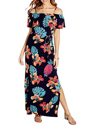 Yumi Pineapple Print Maxi Dress, Navy