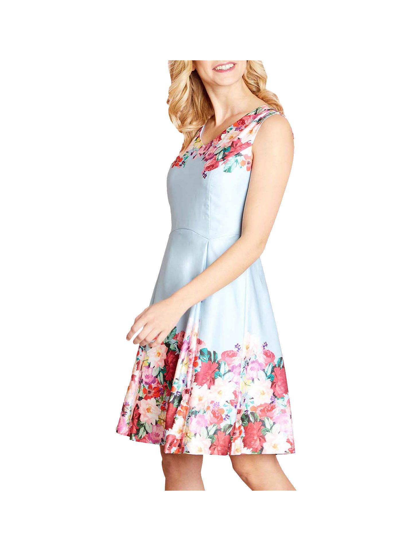 e4664100fd4361 Buy Yumi Floral Watercolour Dress, Pale Blue, 8 Online at johnlewis.com ...