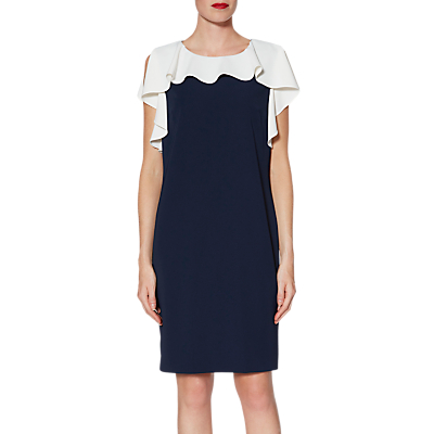 Gina Bacconi Belinda Frill Dress, Navy