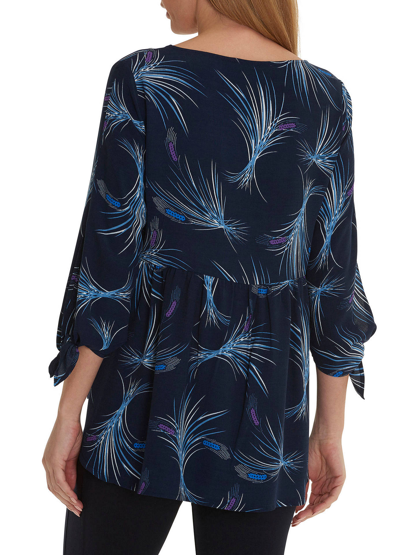 BuyBetty & Co. Corn Print Crepe Blouse, Blue, 10 Online at johnlewis.com