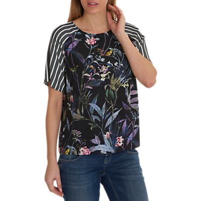 Betty & Co. Floral Stripe Top. Multi