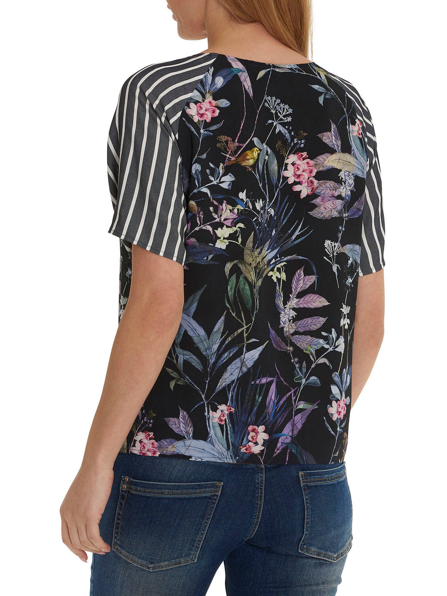 Buy Betty & Co. Floral Stripe Top, Multi, 10 Online at johnlewis.com