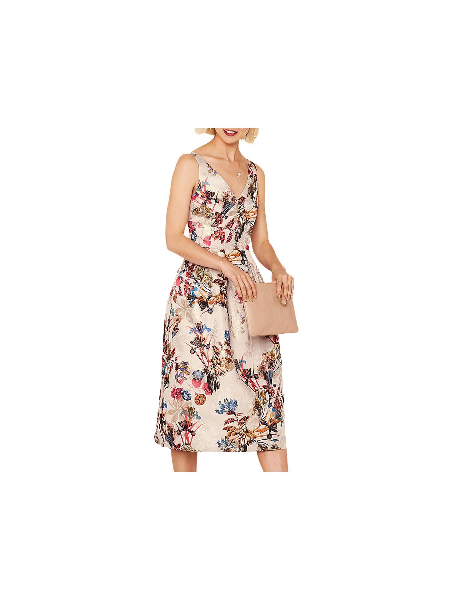 b3e5aec54b2d ... Buy Oasis Floral Iris Jacquard Midi Dress, Multi, 6 Online at  johnlewis.com ...