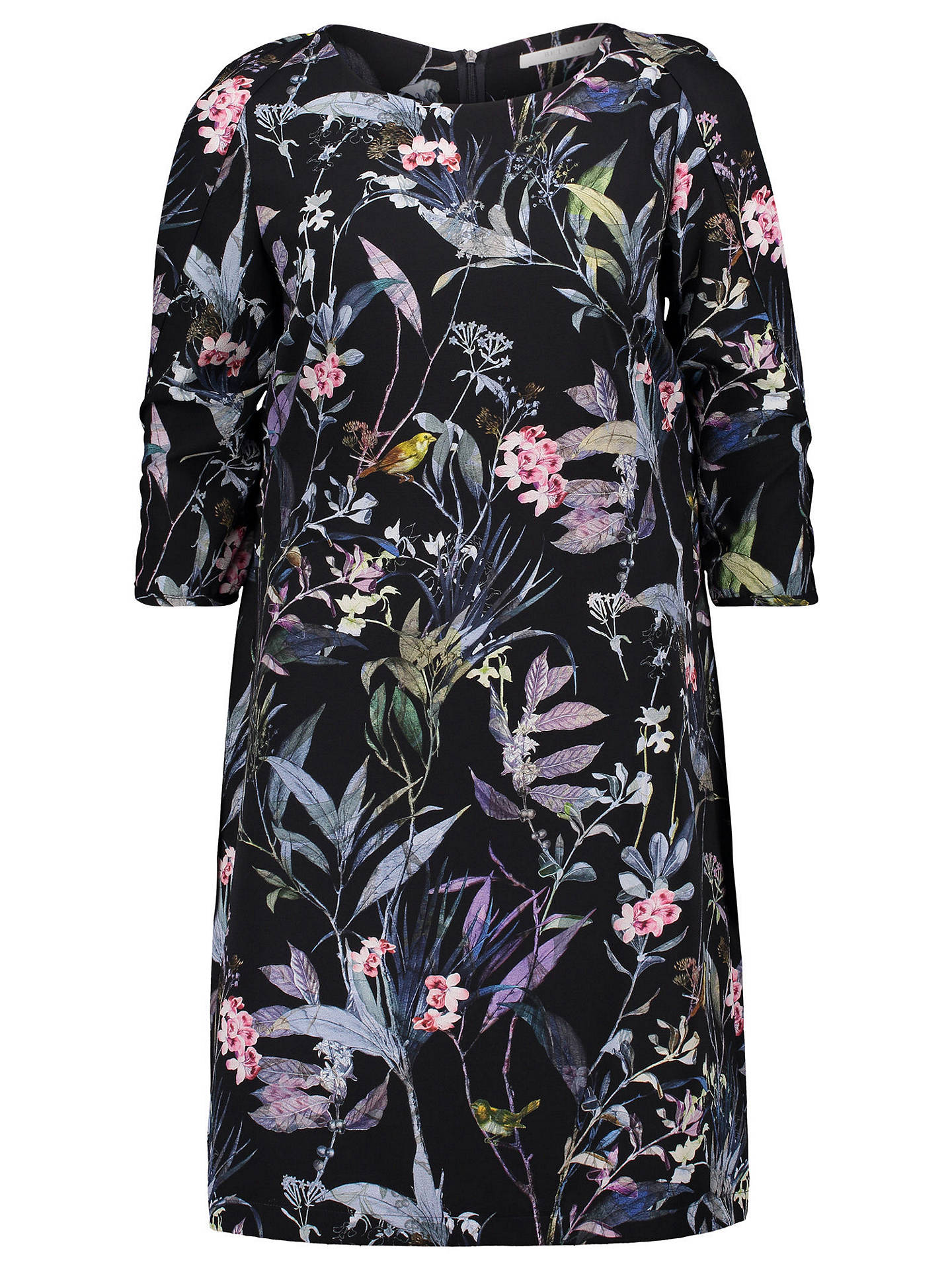 BuyBetty & Co. Floral Print Crepe Dress, Blue/Purple, 10 Online at johnlewis.com