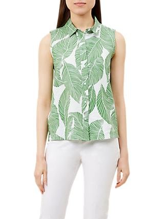 Hobbs Clara Top, Green/White