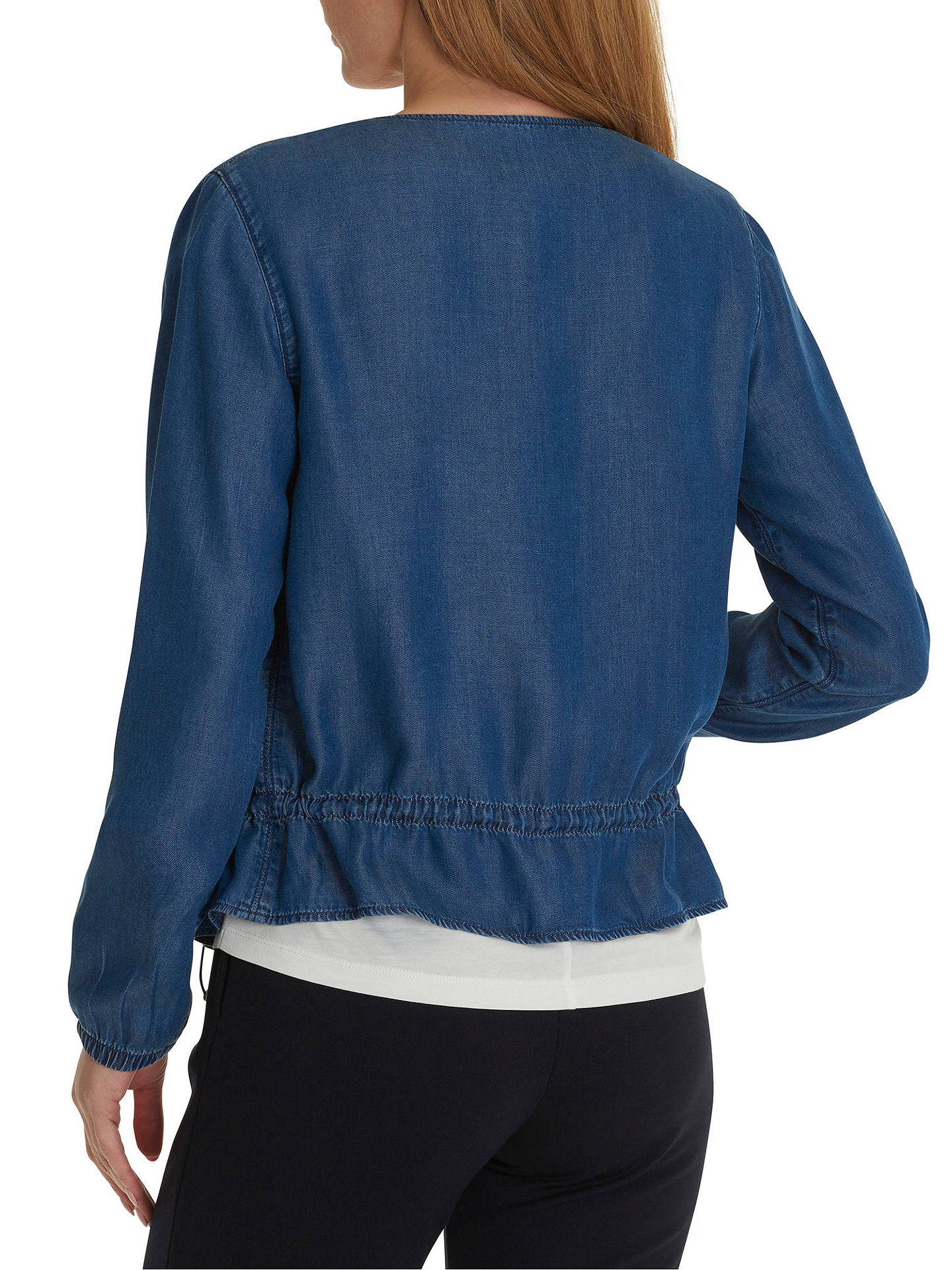 BuyBetty & Co. Zip Front Jacket, Blue Denim, 10 Online at johnlewis.com