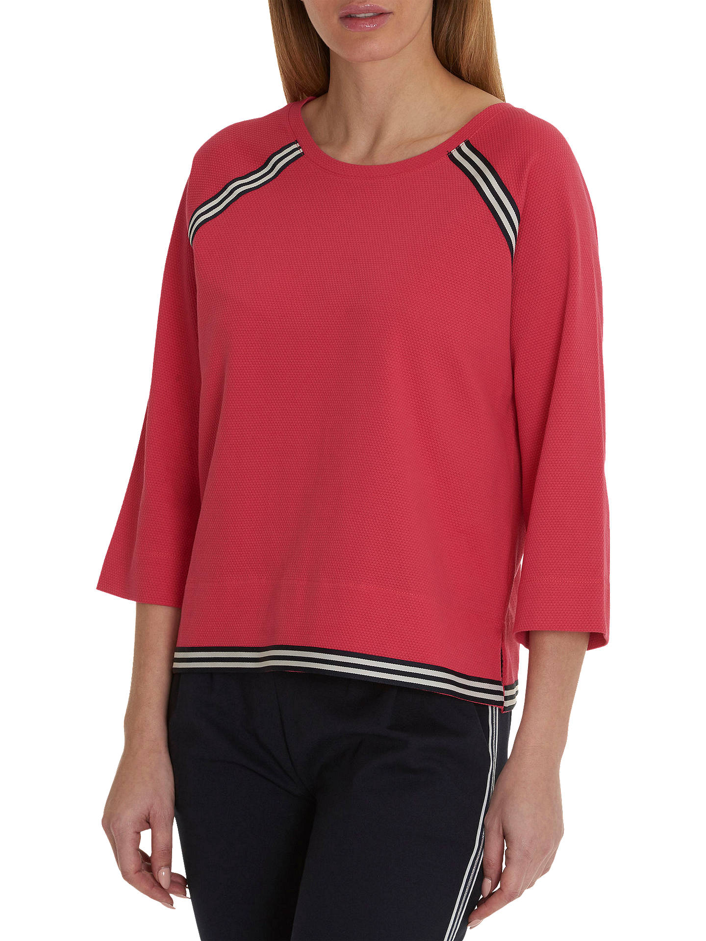 BuyBetty & Co. Sporty Textured Top, Raspberry, 10 Online at johnlewis.com