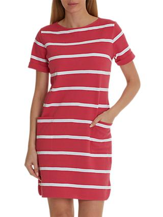 Betty & Co. Textured Stripe Dress, Pink/White
