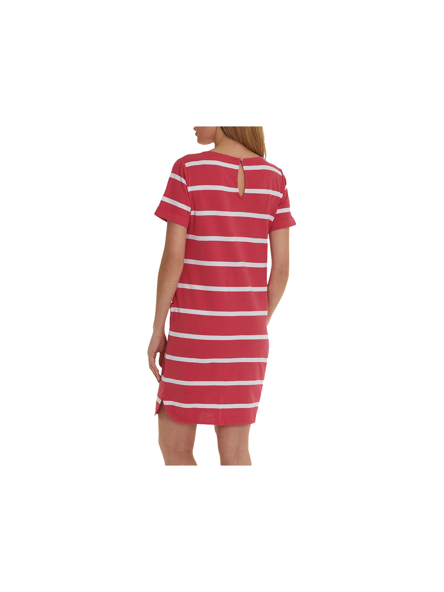 Buy Betty & Co. Textured Stripe Dress, Pink/White, 10 Online at johnlewis.com