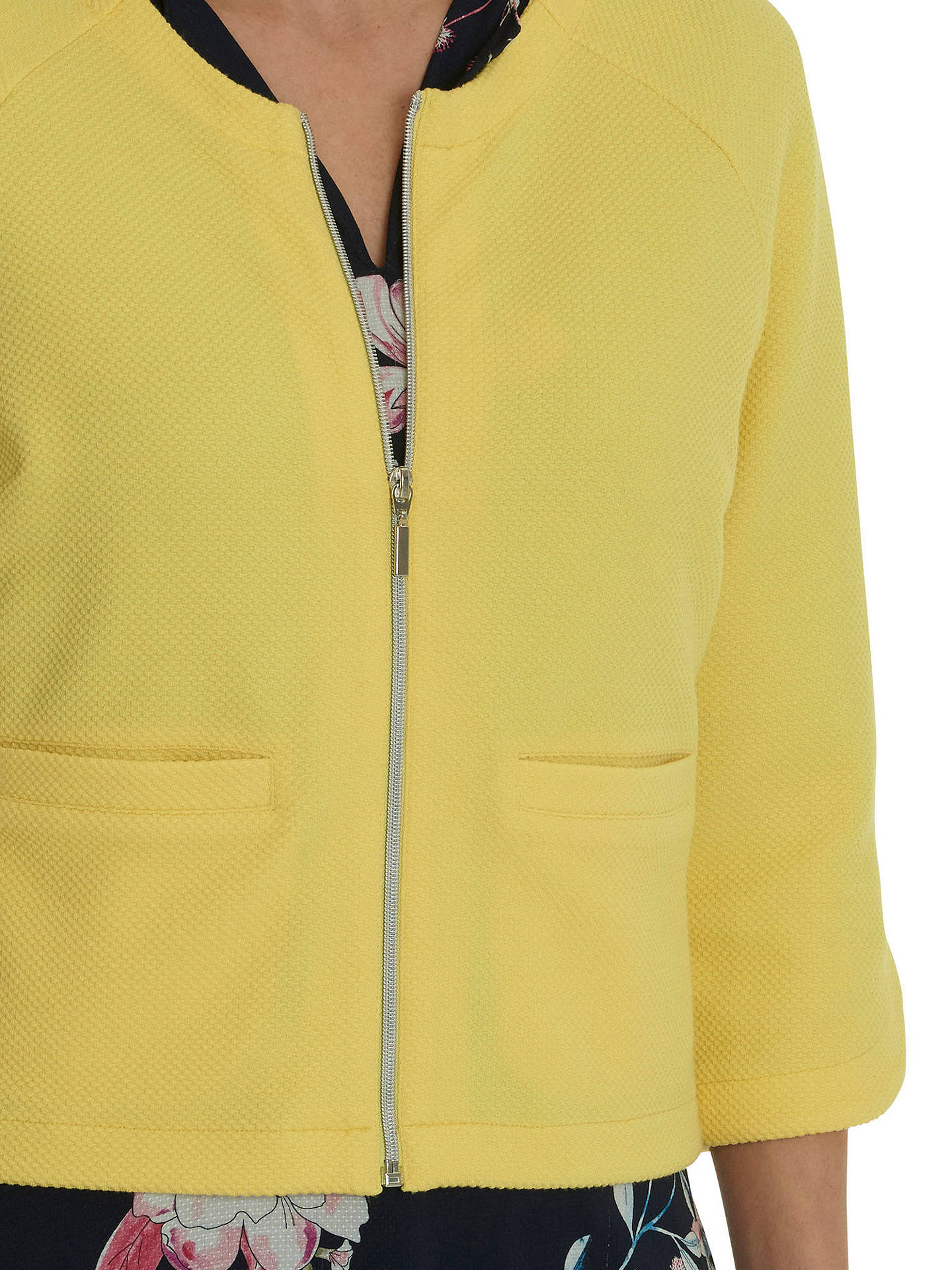 BuyBetty Barclay Textured Knit Jacket, Summer Yellow, 10 Online at johnlewis.com