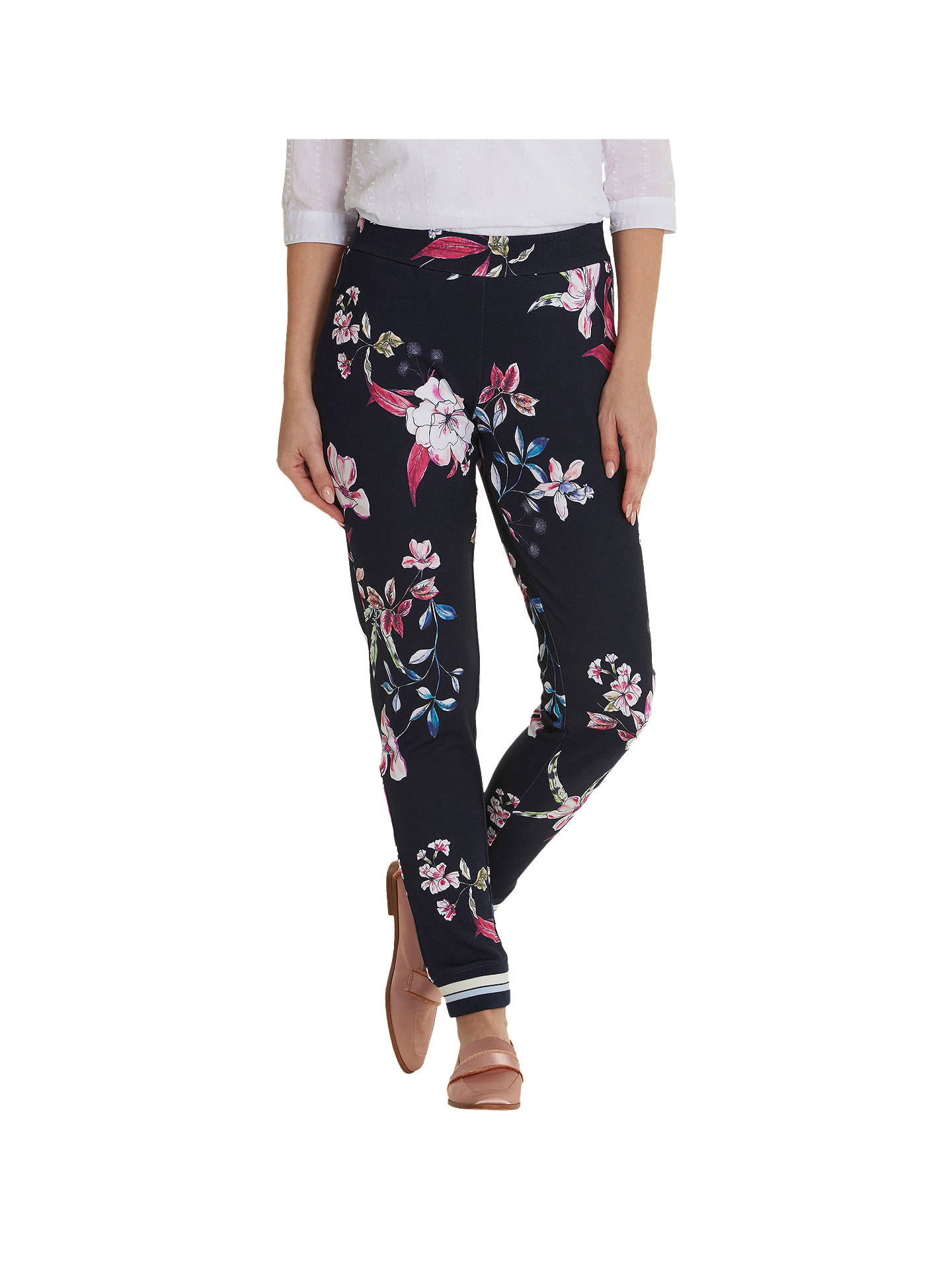 Buy Betty & Co. Floral Print Trousers, Blue/Multi, 10 Online at johnlewis.com