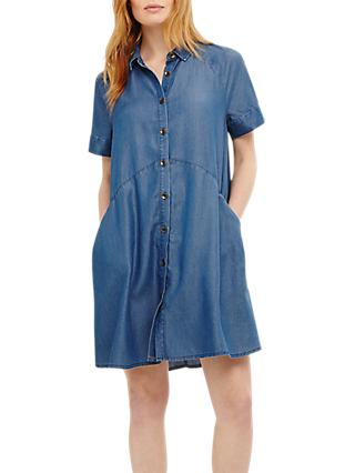 Phase Eight Charlie Swing Dress, Chambray