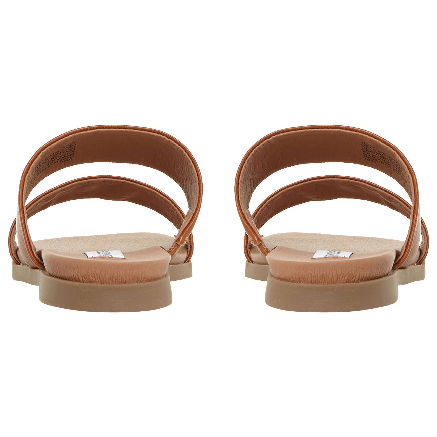 BuySteve Madden Judy Two Band Leather Sliders, Tan, 3 Online at johnlewis.com