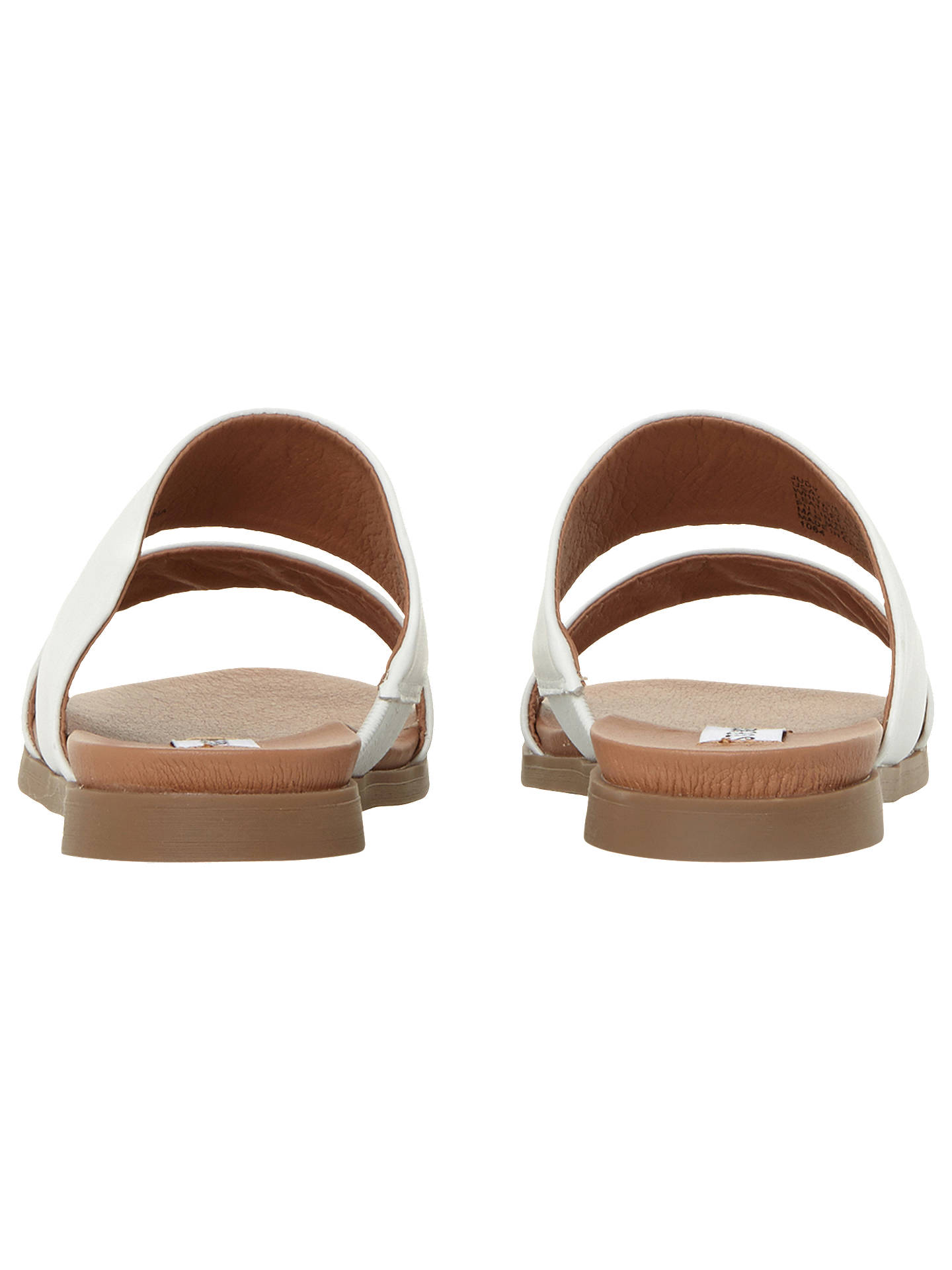 e99b2680d35 Steve Madden Judy Two Band Leather Sliders at John Lewis & Partners
