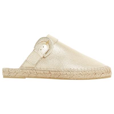 Dune Black Leros Open Heel Loafers