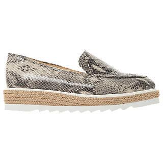 Dune Genie Flatform Loafers, Grey Leather