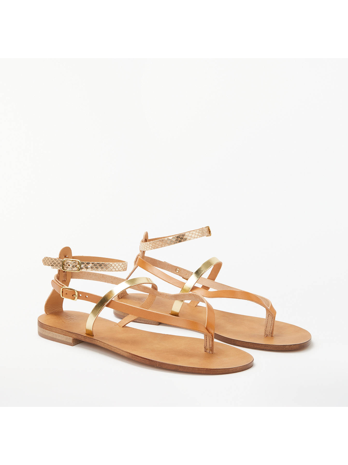 BuyAND/OR Libby Multi Strap Sandals, Tan Leather, 4 Online at johnlewis.com
