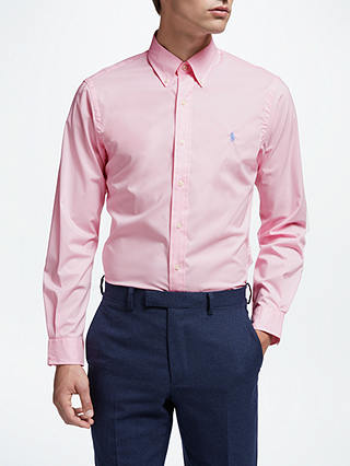 Buy Polo Ralph Lauren Long Sleeve Shirt, Carmel Pink, S Online at johnlewis.com