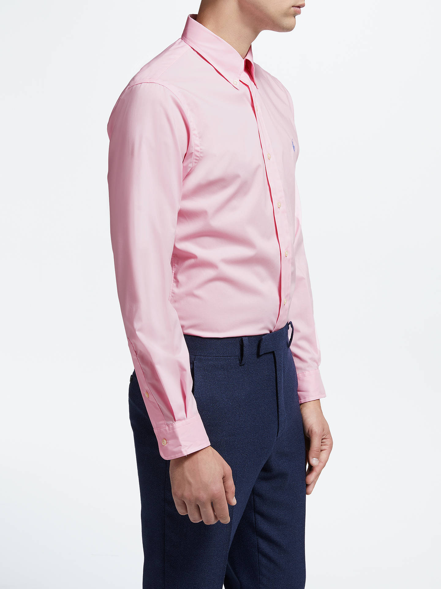 BuyPolo Ralph Lauren Long Sleeve Shirt, Carmel Pink, L Online at johnlewis.com