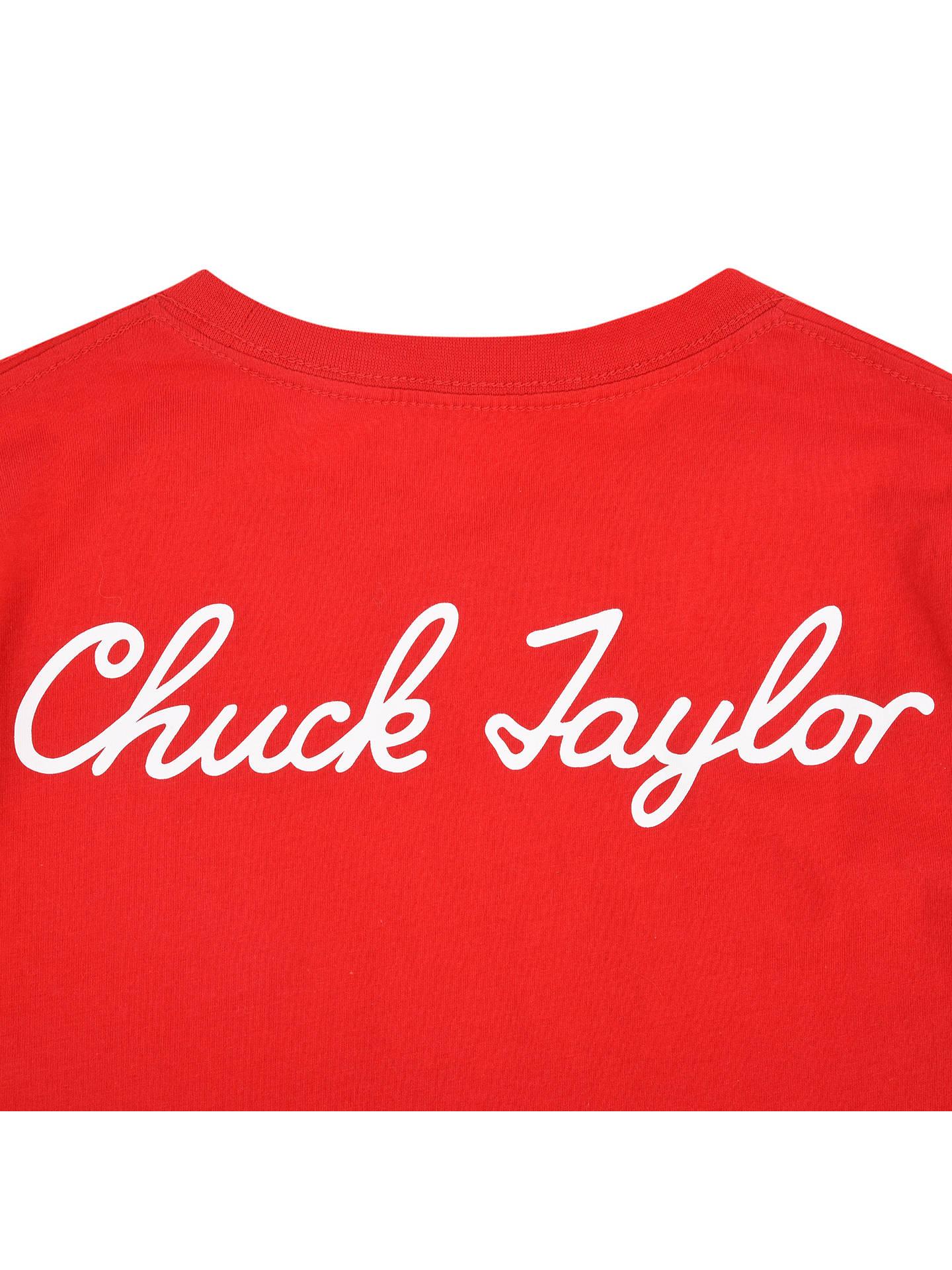 Converse Boys' Chuck Taylor All Star Print T Shirt, Red at