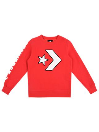 Converse Boys' Applique Star Sweatshirt, Red