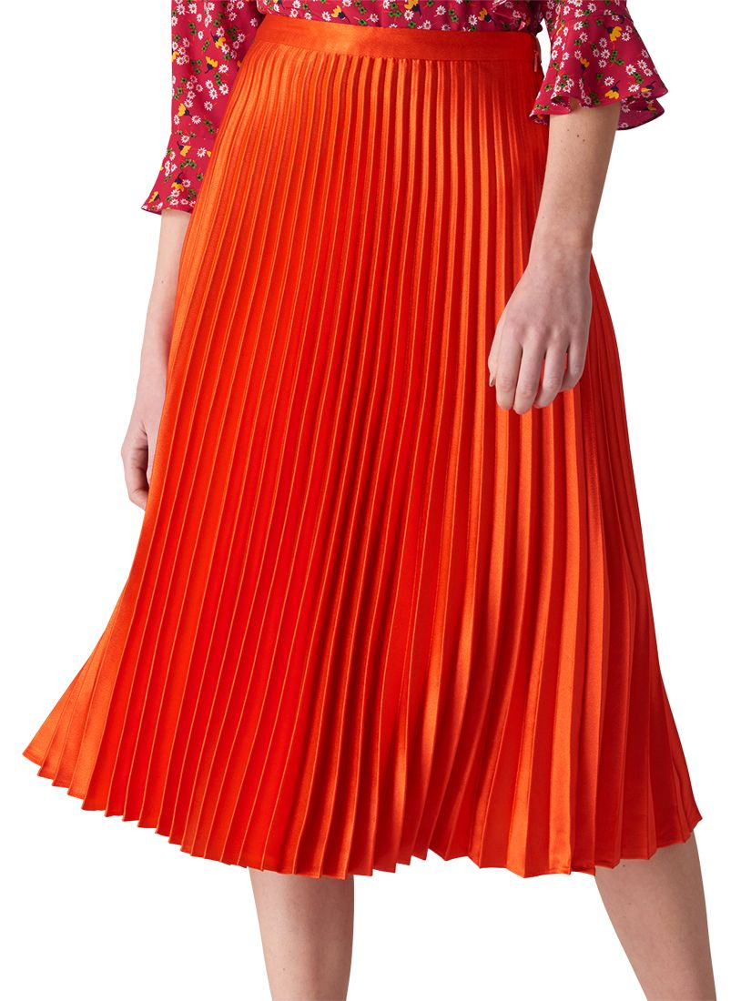 e6292356a1 Whistles Satin Pleated Skirt at John Lewis & Partners