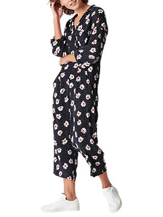 Whistles Daisy Spot Jumpsuit, Multi