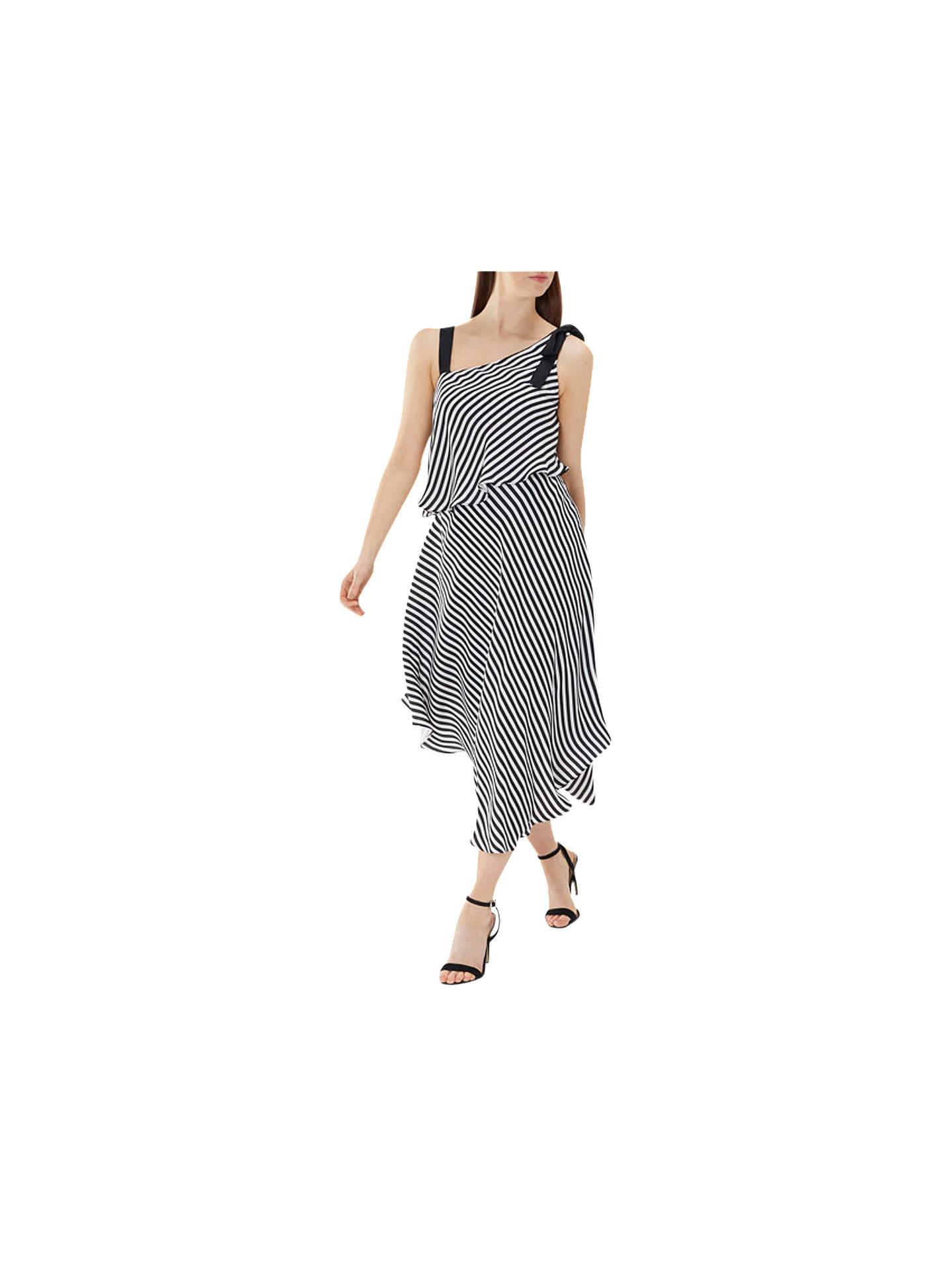 Black White Striped Dress Size 6 8 10 12 14 16 lightweight Dresses Stripes