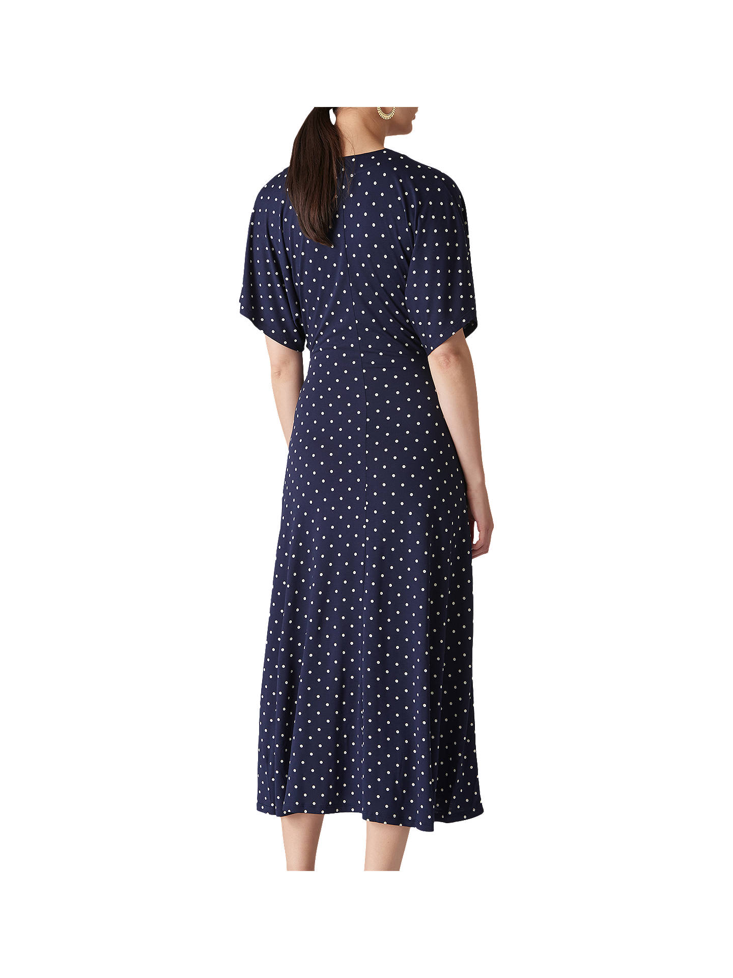 e85fb7d721d ... Buy Whistles Spot Print Jersey Wrap Dress, Navy/Multi, 6 Online at  johnlewis ...
