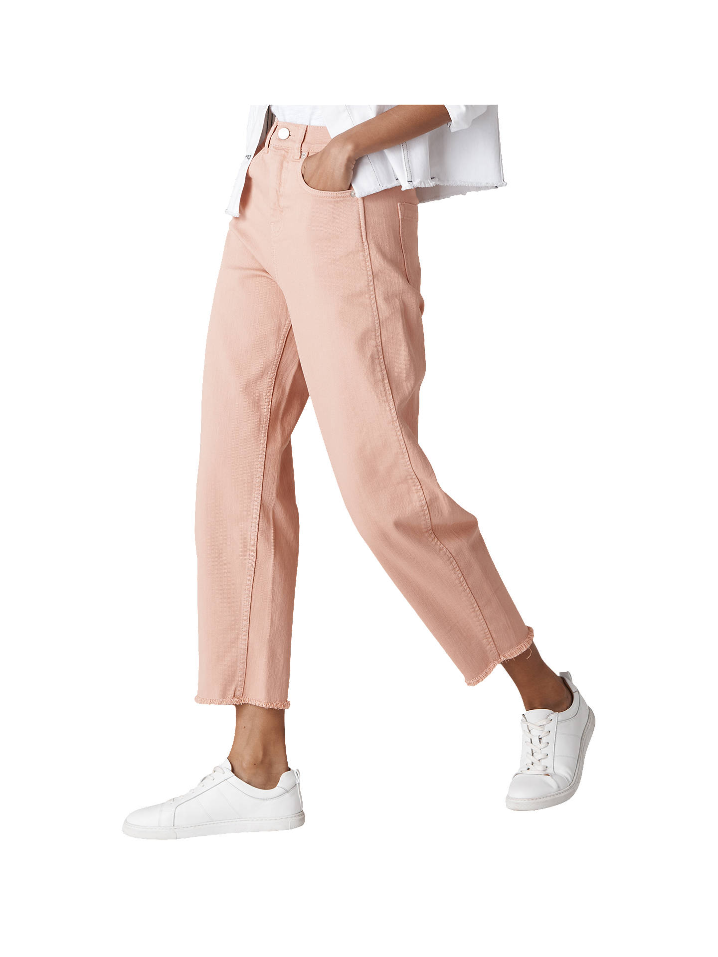 BuyWhistles High Waist Barrel Leg Jeans, Pale Pink, 28 Online at johnlewis.com