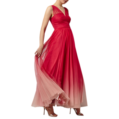 Phase Eight Collection 8 Aya Tulle Dip Dyed Dress, Coral