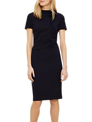Phase Eight Terrie Tie Neck Dress, Navy