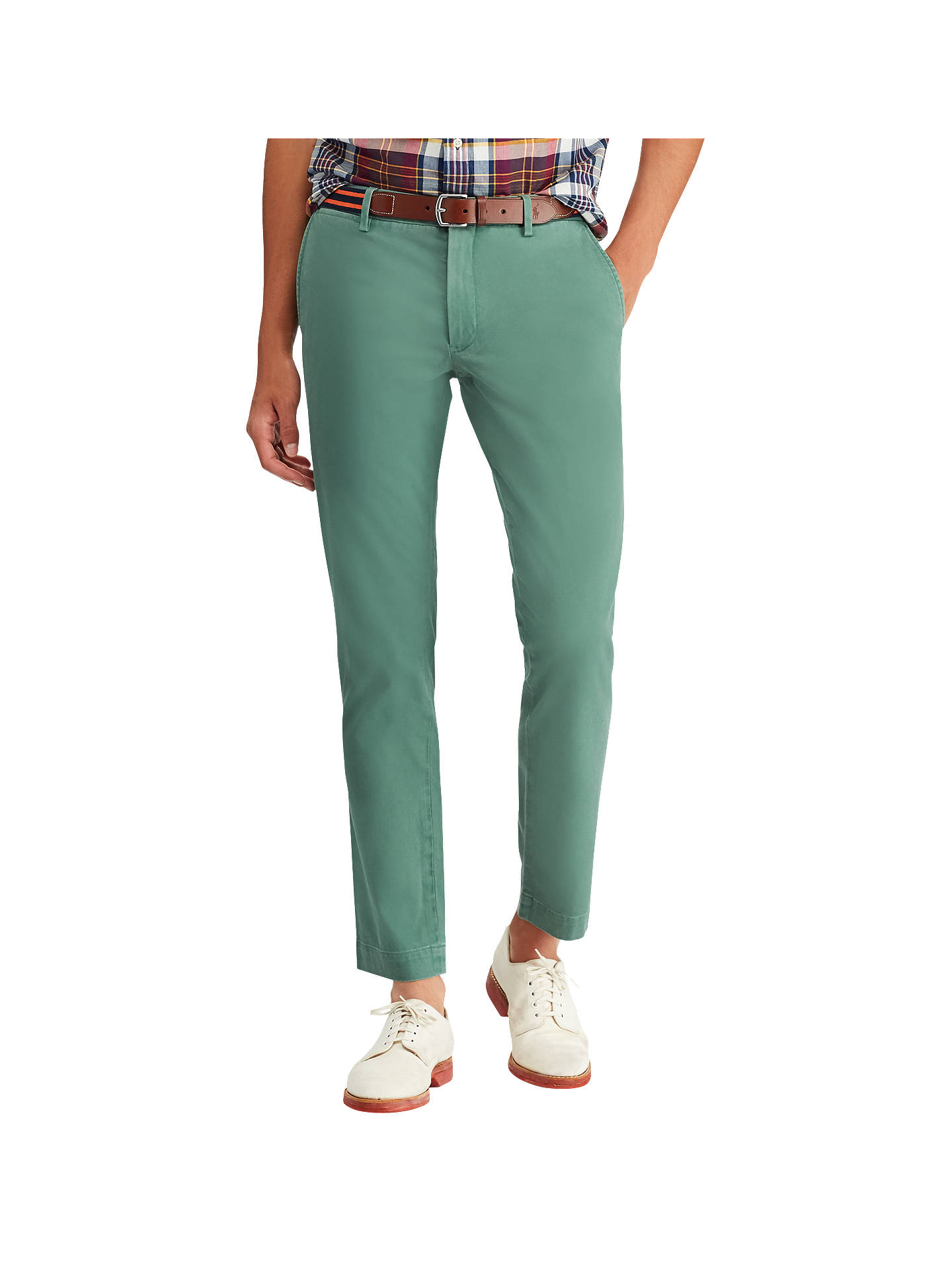 Buy Polo Ralph Lauren Flat Pant GD Chinos, Washed Forest, 32R Online at johnlewis.com