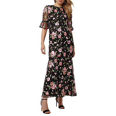 Phase Eight Collection 8 Antonette Floral Maxi Dress, Black