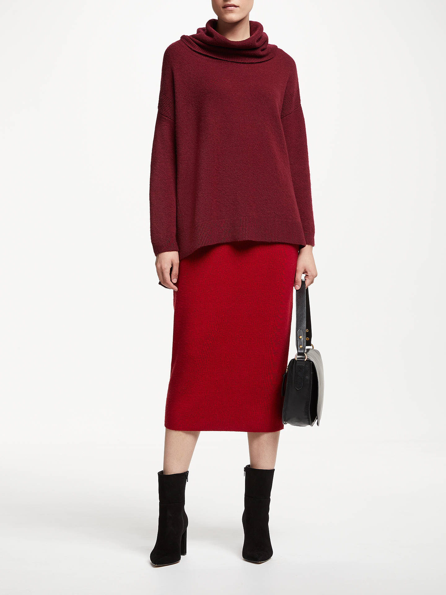BuyJohn Lewis & Partners Knitted Pencil Skirt, Rust Red, 8 Online at johnlewis.com