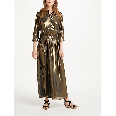 Swildens Sage Metallic Dress, Gold