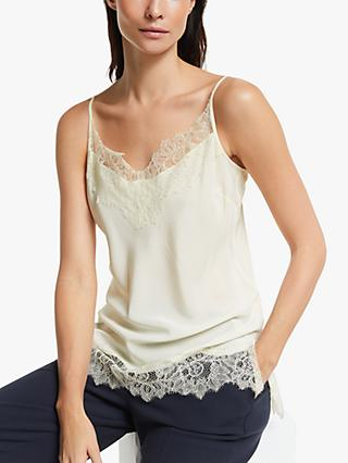 Modern Rarity Silk Lace Cami Top, Vanilla