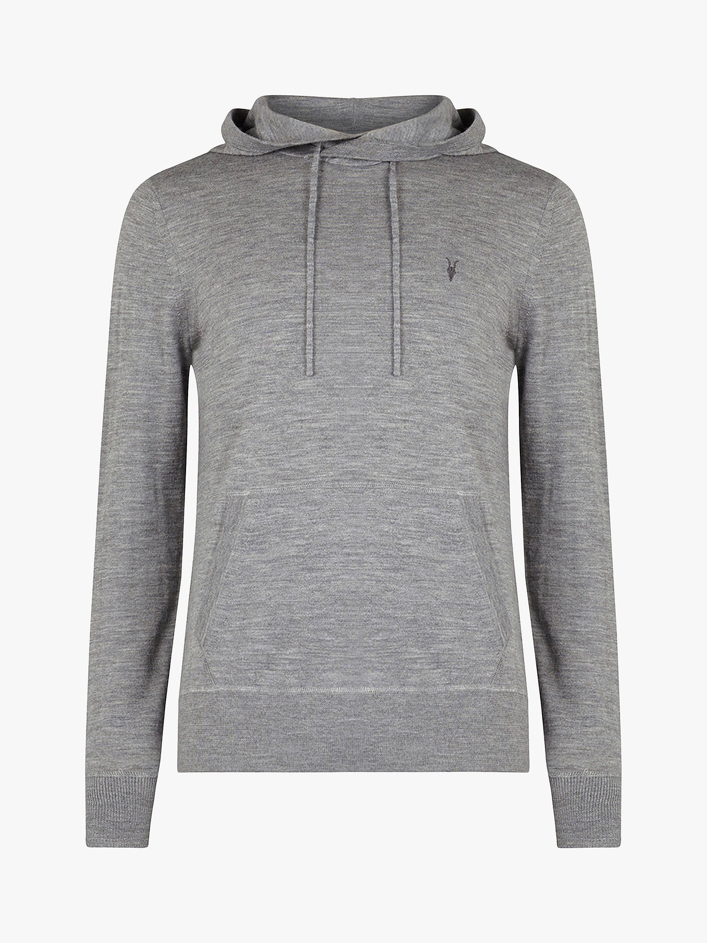 new styles d430e fec30 AllSaints Mode Merino Pullover Hoodie, Grey Marl